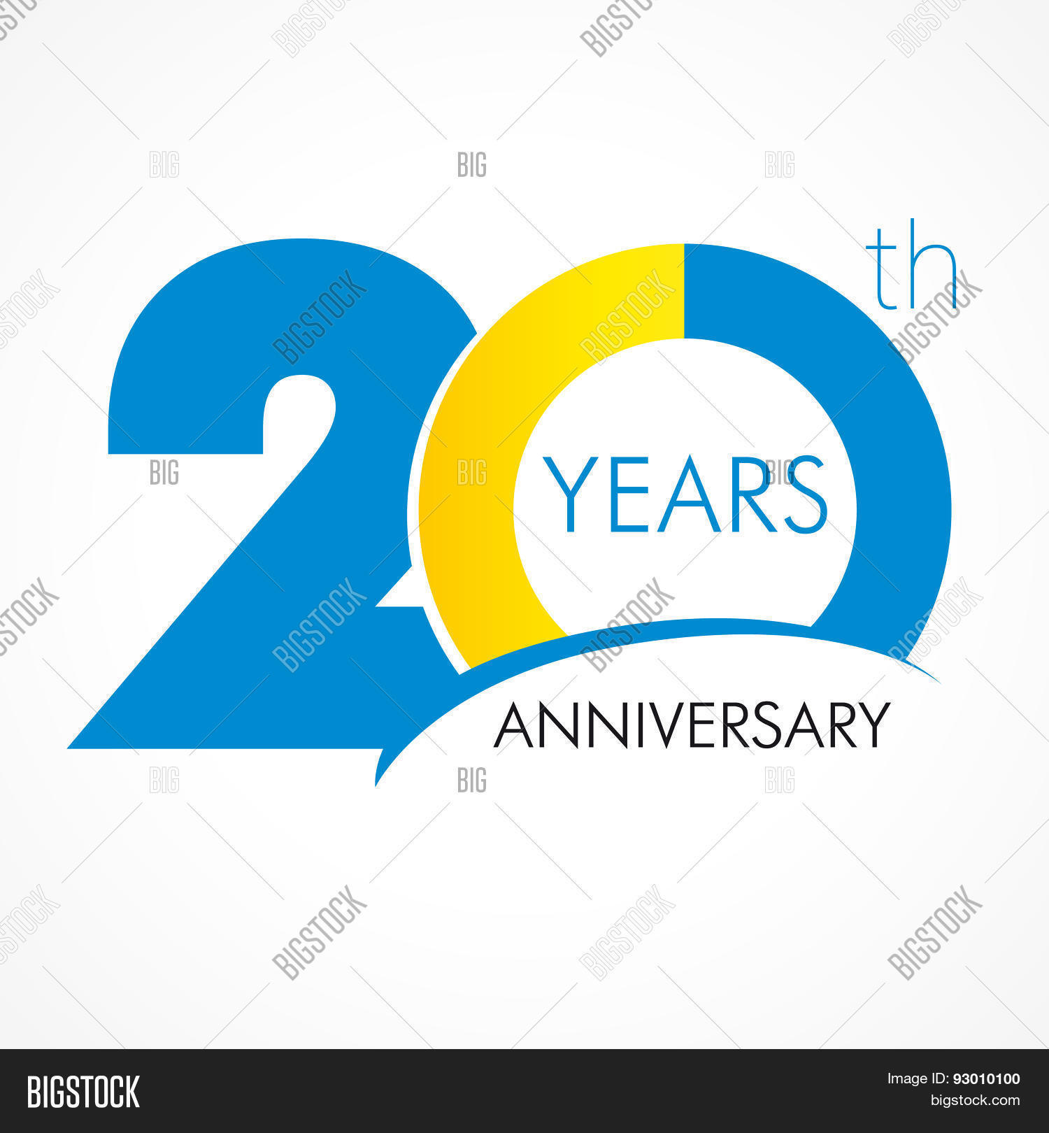 20 years old celebrating classic logo colored happy anniversary 20 th template numbers greetings