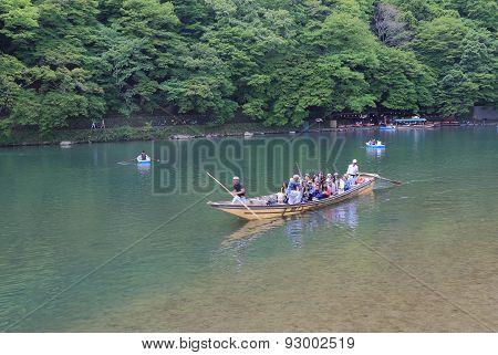 River cruise Kyoto Japan