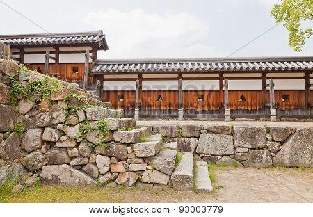 Wall Of Hiroshima Castle, Japan. National Historic Site