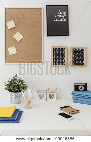 Materials On Desk