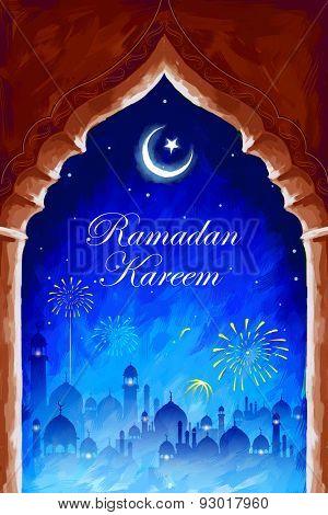 illustration of Ramadan Kareem (Generous Ramadan) background