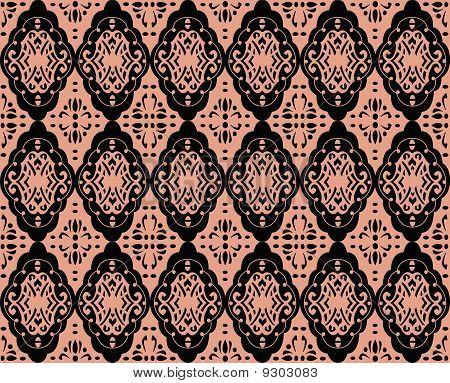 Seamless rococo spiral wallpaper