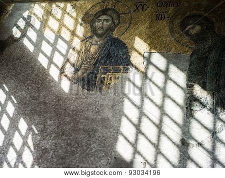Mosaic In Santa Sofia Mosque
