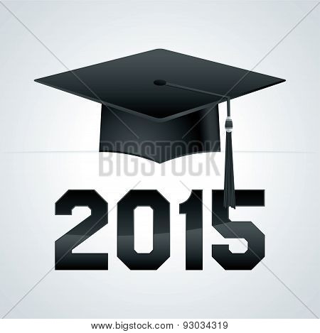 Class Of 2015 Graduation Cap Illustration