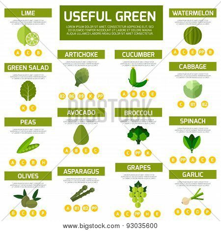 Vegetarian food infographic  background.