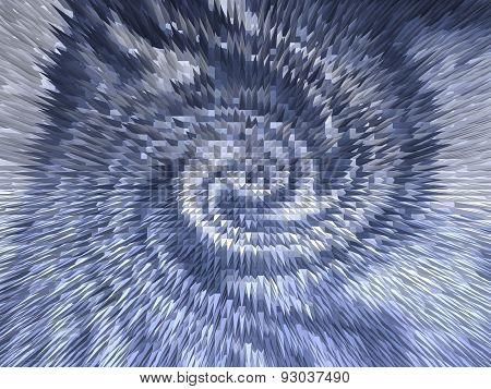 Abstract rotating spiky shapes