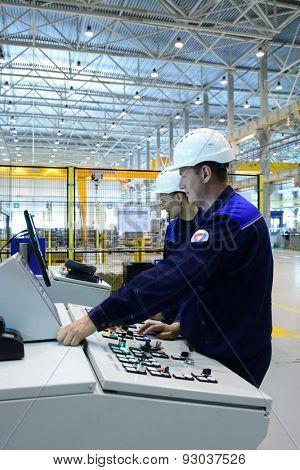 VSEVOLOZHSK, LENINGRAD OBLAST, RUSSIA - JUNE 5, 2015: Presentation of the joint enterprise Severstal-SSC-Vsevolozsk. The joint venture of Russian Severstal and Japanese Mitsui was established in 2010