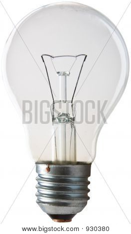 light bulb on a white background. isolated poster