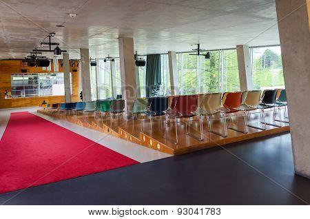 Rotterdam, Netherlands - May 9, 2015: Auditorium Of Kunsthal Museum In Museumpark, Rotterdam.