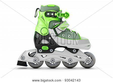 Green Roller Skate Side View