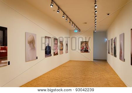 Rotterdam, Netherlands - May 9, 2015: Interior Of Kunsthal Museum In Museumpark, Rotterdam