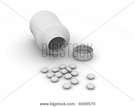 pills and box