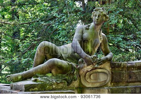 Statue Of A Woman Lying