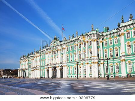 Winter Palace and Alexander Column on Palace Square in St. Petersburg/ Dvortsovaya Ploshchad in St. Petersburg poster