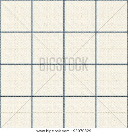 Seamless White Texture With Blue Checkered Pattern