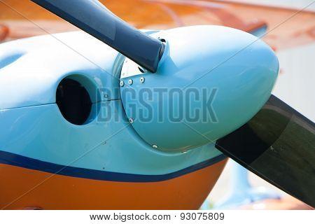 Light Aircraft, Modern Biplane Orange And Blue
