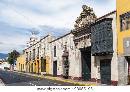 Traditional Style Architecture Found In Trujillo, Peru