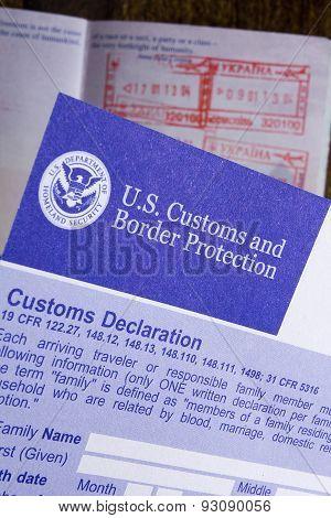 Customs Declaration And Passport