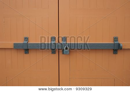 Detail Of A Wooden Door.