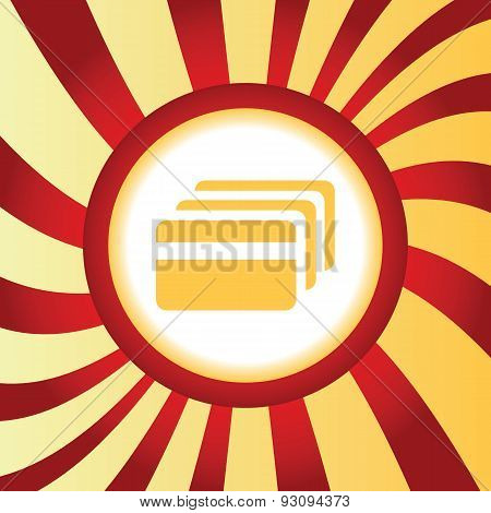 Credit card abstract icon