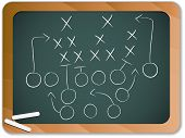 Vector - Teamwork Football Game Plan Strategy on Blackboard poster