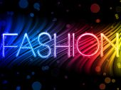 Vector - Fashion Abstract Colorful Waves on Black Background poster