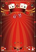 Red Casino poster. A red poster for your poker tournament poster