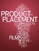 Word Cloud with Product Placement related tags poster
