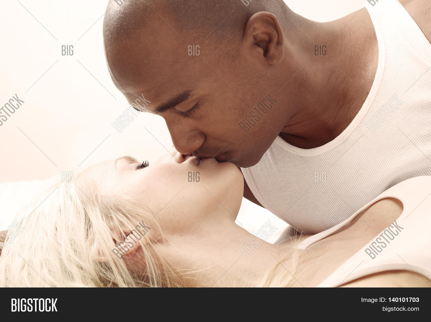 White Girl Kissing Black Guy