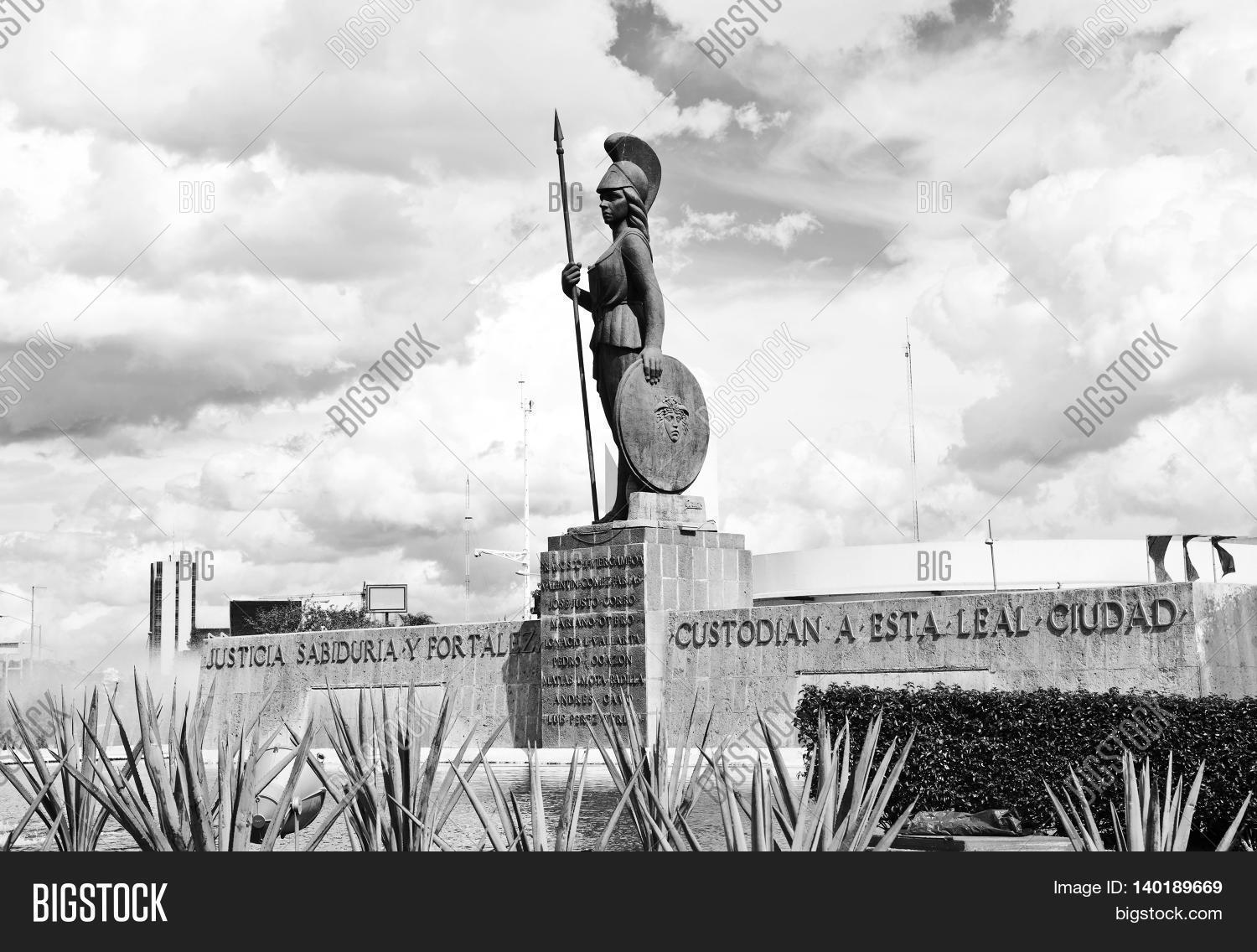 Monuments of guadalajara jalisco mexico black and white