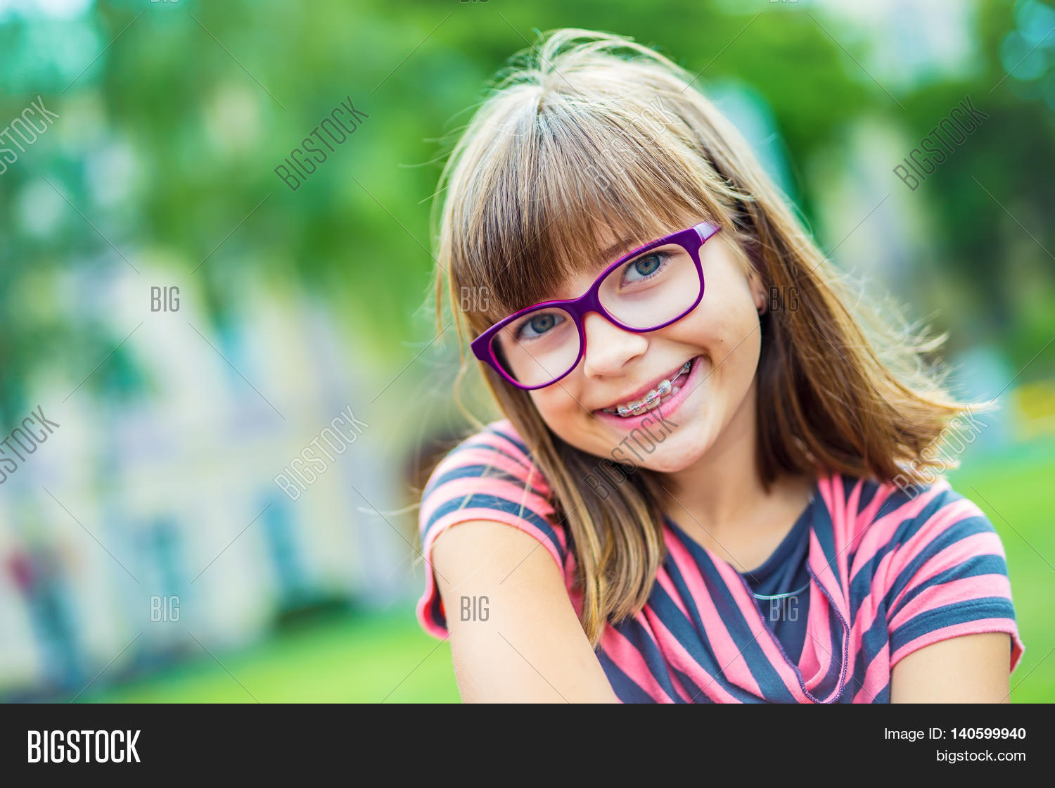 Cute teens with braces glasses would