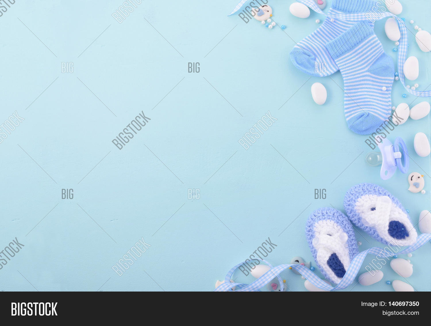 Blue Baby Shower Image Photo Free Trial Bigstock