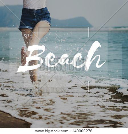 Beach Coast Sand Sea Ocean Shore Vacation Concept