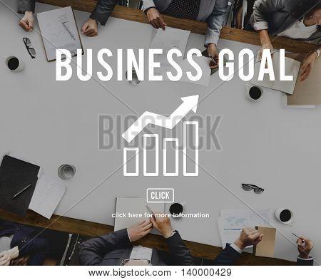 Business Growth Economics Graph Concept