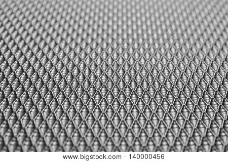 close-up of texture of baggage in black and white tone