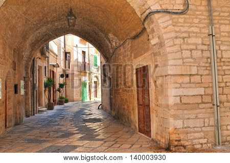 perspective of an alleyway of Giovinazzo. Puglia. Italy.