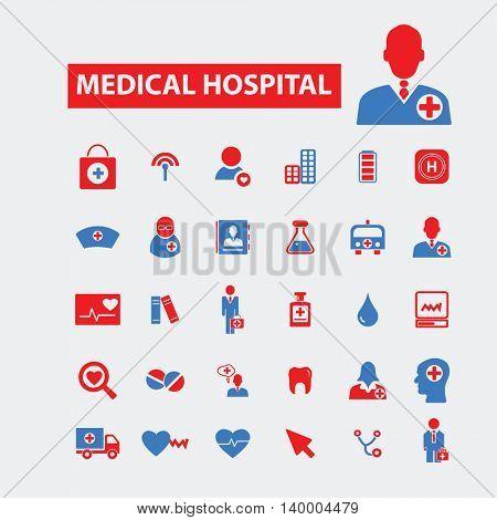 medical hospital icons