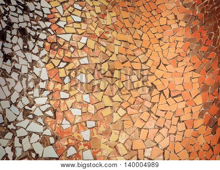 Ceramic Tile Fragment Mosaic, Abrstract Background