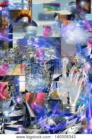 Complex Surreal Abstract Art 3D Render