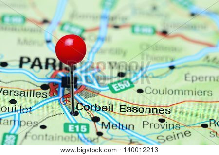 Corbeil-Essonnes pinned on a map of France