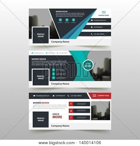 Blue red green triangle abstract corporate business banner template horizontal advertising business banner layout template flat design set clean abstract cover header background for website design