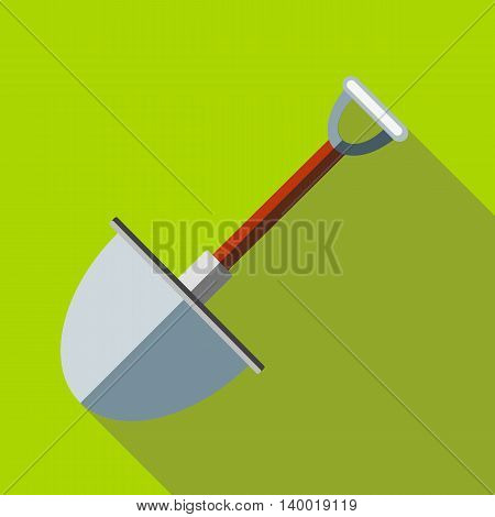 Multifunction spade icon in flat style on a green background