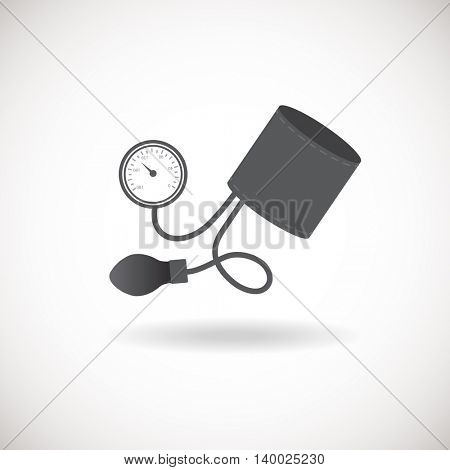 Blood pressure monitor icon. Vector illustration of medical monitor device