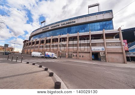 Madrid,Spain - March 2016: View on Vicente Calderon stadium