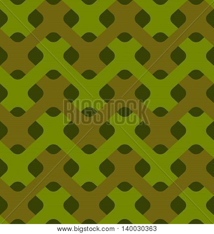 Military Weaving Seamless Pattern. Army Abstract Plexus Texture. Camouflage Ornament For Soldiers. G