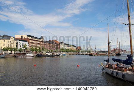Beautiful panorama of capital city of Finlanda Helsinki