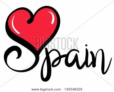 I Love Spain_red