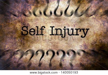 Self Injury Grunge Concept