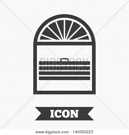 Louvers plisse sign icon. Window blinds or jalousie symbol. Graphic design element. Flat louvers plisse symbol on white background. Vector
