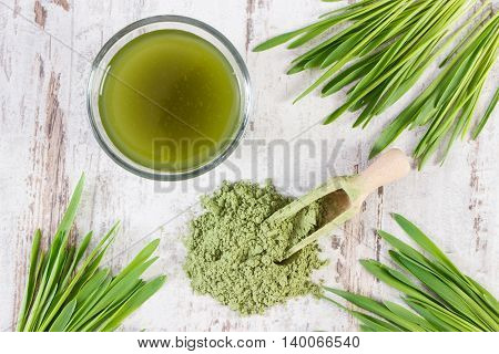 Barley Grass With Beverage And Young Powder Barley, Body Detox